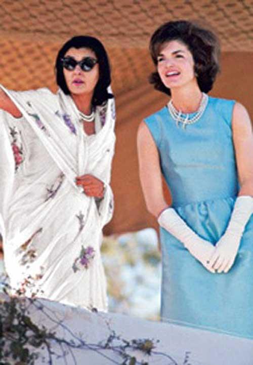 Con la inolvidable Jackie  Kennedy
