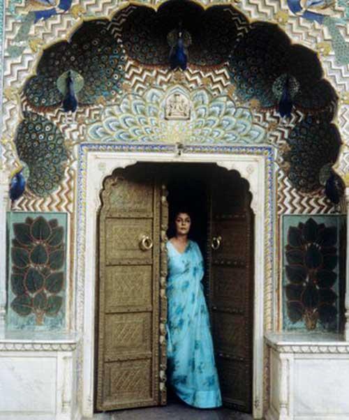 En su palacio de Jaipur