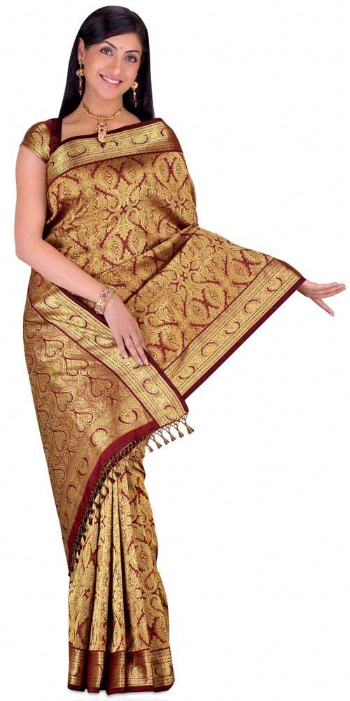 Saris Brocado Gujarati