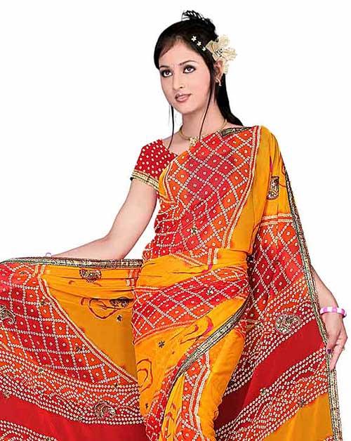 Saris estilo Bandhani