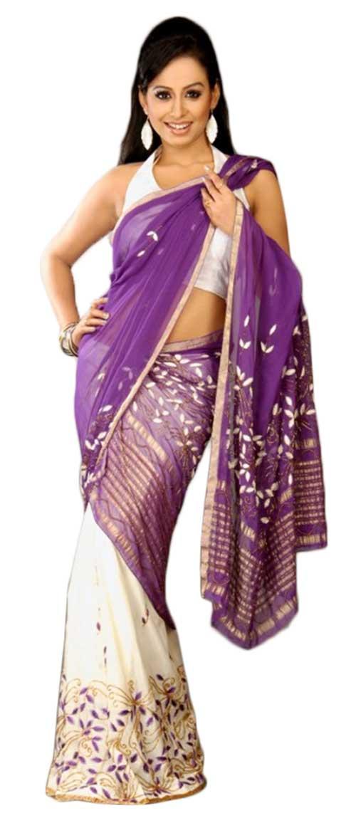 Sari estilo Pat Mekhala-Chaddar
