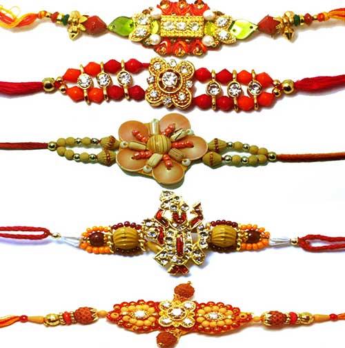 Diferentes diseños de cintas para el Rakhi
