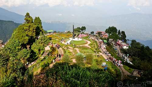 Vista desde el Bucle de Batasia