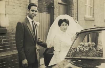 Retrato de mis padres en el dia de su boda 1963