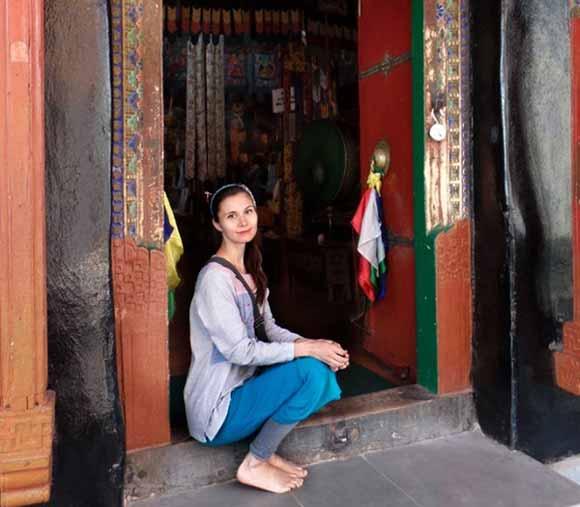 Anna Grosh en Likir Gompa, Jammu and Kashmir, India / 2014
